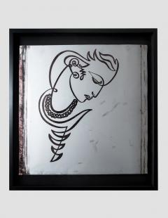 JEAN NEGULESCO JEAN NEGULESCO CONTINUOUS LINE DRAWING ON METAL PLATE - 1068306