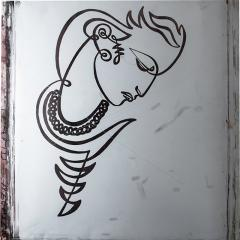 JEAN NEGULESCO JEAN NEGULESCO CONTINUOUS LINE DRAWING ON METAL PLATE - 1069037