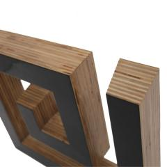 JOSECHO L PEZ LLORENS Josecho L pez Llorens Geometric Black Lacquered Pine Wood Spiral 11008 Sculpture - 927751