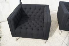 Jack Cartwright Pair of Tufted Club Chairs by Jack Cartwright - 102598