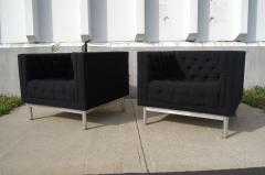 Jack Cartwright Pair of Tufted Club Chairs by Jack Cartwright - 102599