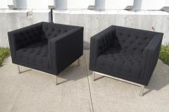 Jack Cartwright Pair of Tufted Club Chairs by Jack Cartwright - 102600