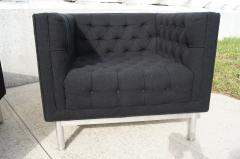 Jack Cartwright Pair of Tufted Club Chairs by Jack Cartwright - 102602