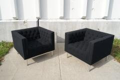Jack Cartwright Pair of Tufted Club Chairs by Jack Cartwright - 102603