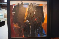 Jack D Wolfe Red X Oil Painting by Jack Wolfe 1962 - 439219