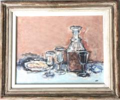 Jack Gage Stark Sherry and Biscuit Mid Century Modern Still Life - 1102320