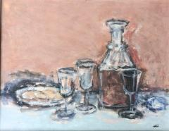 Jack Gage Stark Sherry and Biscuit Mid Century Modern Still Life - 1102325