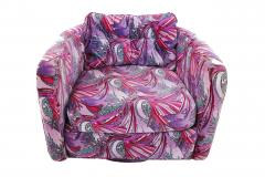 Jack Lenor Larsen 1970 s Swivel Chairs in Jack Lenor Larsen velvet - 1622807