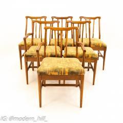 Jack Lenor Larsen Style Mid Century Walnut Dining Chairs Set of 6 - 1869940
