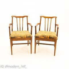 Jack Lenor Larsen Style Mid Century Walnut Dining Chairs Set of 6 - 1869942