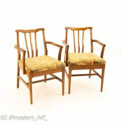 Jack Lenor Larsen Style Mid Century Walnut Dining Chairs Set of 6 - 1869943