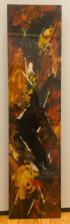 Jackson Pollock Art Deco Enamel Wall Glass Art in the Manner of Jackson Pollock - 1730106
