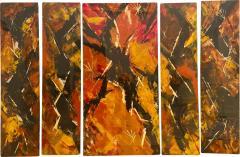 Jackson Pollock Art Deco Enamel Wall Glass Art in the Manner of Jackson Pollock - 1731541