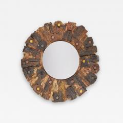 Jacky Coville Ceramic Mirror by Jacky Coville France 1970s - 2116228