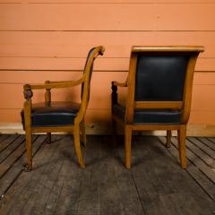 Jacob Freres A pair of nineteenth century French Jacob Fr res Consulat armchairs - 2128922