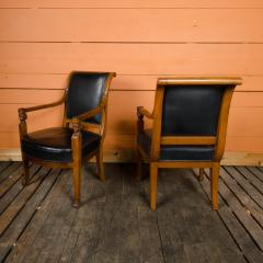Jacob Freres A pair of nineteenth century French Jacob Fr res Consulat armchairs - 2128924