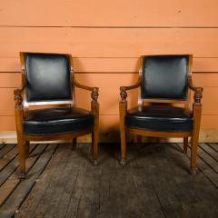 Jacob Freres A pair of nineteenth century French Jacob Fr res Consulat armchairs - 2128925
