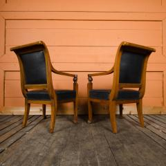 Jacob Freres A pair of nineteenth century French Jacob Fr res Consulat armchairs - 2128963