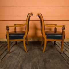 Jacob Freres A pair of nineteenth century French Jacob Fr res Consulat armchairs - 2128968