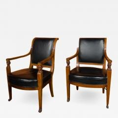 Jacob Freres A pair of nineteenth century French Jacob Fr res Consulat armchairs - 2130870