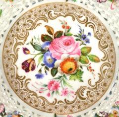 Jacob Petit Old Paris Porcelain Basket by Jacob Petit c 1840 - 981042