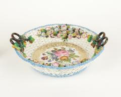 Jacob Petit Old Paris Porcelain Basket by Jacob Petit c 1840 - 981043