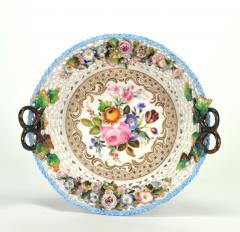 Jacob Petit Old Paris Porcelain Basket by Jacob Petit c 1840 - 981045