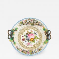 Jacob Petit Old Paris Porcelain Basket by Jacob Petit c 1840 - 982061