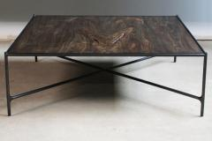 Jacob Wener Web Series Cast Bronze Saddle Leather and Wood Bench by Modern Industry Design - 1456038