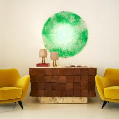 Jacopo Foggini Contemporary Green Polycarbonate Circular Italian Jacopo Foggini Wall Lamp - 1544959