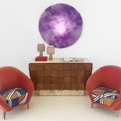 Jacopo Foggini Jacopo Foggini Purple Polycarbonate Contemporary Circular Italian Sconce - 1986624