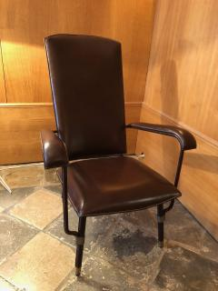 Jacques Adnet 1950s Leather Armchair - 2113372