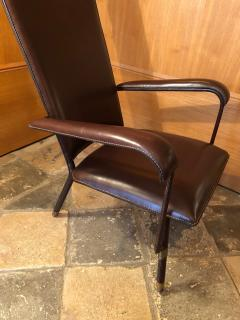 Jacques Adnet 1950s Leather Armchair - 2113375