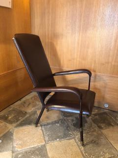 Jacques Adnet 1950s Leather Armchair - 2113376