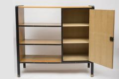Jacques Adnet 1950s Stitched Leather Bookcase by Jacques Adnet - 1467996