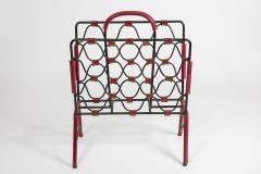 Jacques Adnet 1950s Stitched Leather magazine rack by Jacques Adnet - 1671619