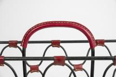 Jacques Adnet 1950s Stitched Leather magazine rack by Jacques Adnet - 1671623