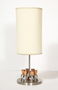 Jacques Adnet A French Chrome Copper and Glass Lamp - 1989308