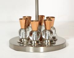 Jacques Adnet A French Chrome Copper and Glass Lamp - 1989309