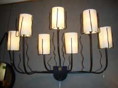 Jacques Adnet A pair of 1950 s wall lights by Jacques Adnet - 914118