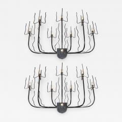 Jacques Adnet A pair of 1950 s wall lights by Jacques Adnet - 915011
