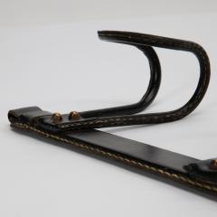 Jacques Adnet Black leather hanger by Jacques Adnet - 1563440