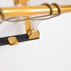 Jacques Adnet Fancy European Brass Coat Hat Rack Wall Shelf Style Jacques Adnet Modern 1960s - 1640386