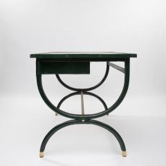 Jacques Adnet French Mid Century desk with armchair and waste paper basket by Jacques Adnet - 1242784