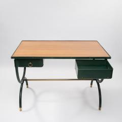 Jacques Adnet French Mid Century desk with armchair and waste paper basket by Jacques Adnet - 1242785