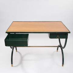 Jacques Adnet French Mid Century desk with armchair and waste paper basket by Jacques Adnet - 1242786