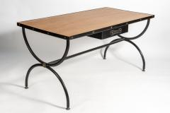 Jacques Adnet Important Stitched Leather Desk by Jacques Adnet - 895867