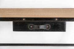 Jacques Adnet Important Stitched Leather Desk by Jacques Adnet - 895871