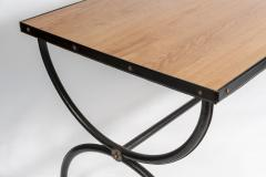 Jacques Adnet Important Stitched Leather Desk by Jacques Adnet - 895872