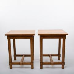 Jacques Adnet Jacques Adnet France a Pair of High End Tables - 1122426